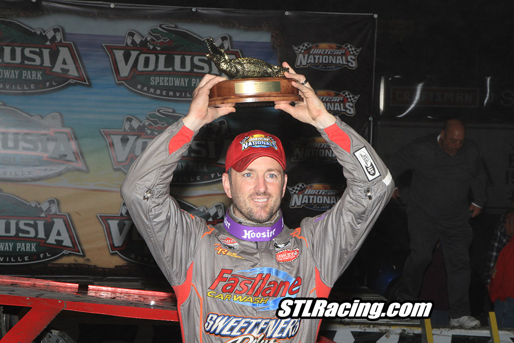 Tim McCreadie grabs World Of Outlaw Late Model Season Opener in fog shortened feature at Volusia Speedway Park