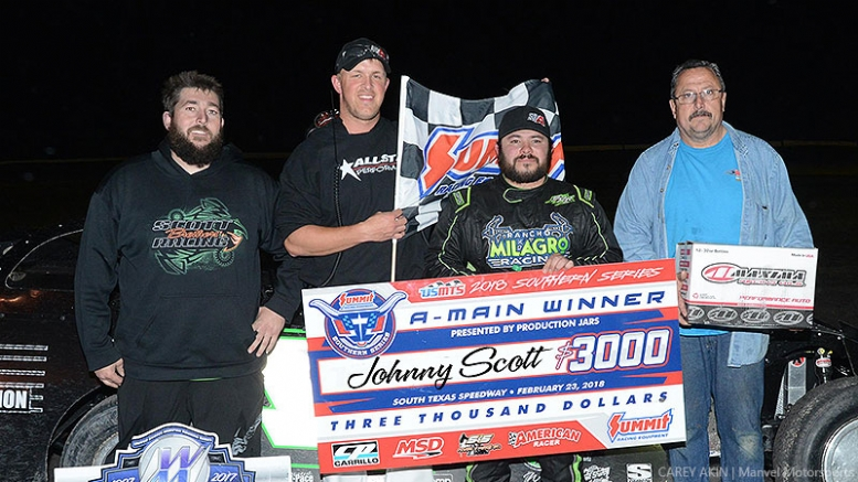 Johnny Scott secures Summit USMTS Southern Series opener at South Texas Speedway