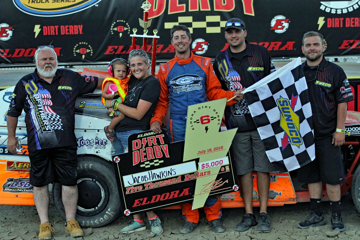 Jacob Hawkins & Donnie Jeschke take Eldora Speedway DIRTcar wins!
