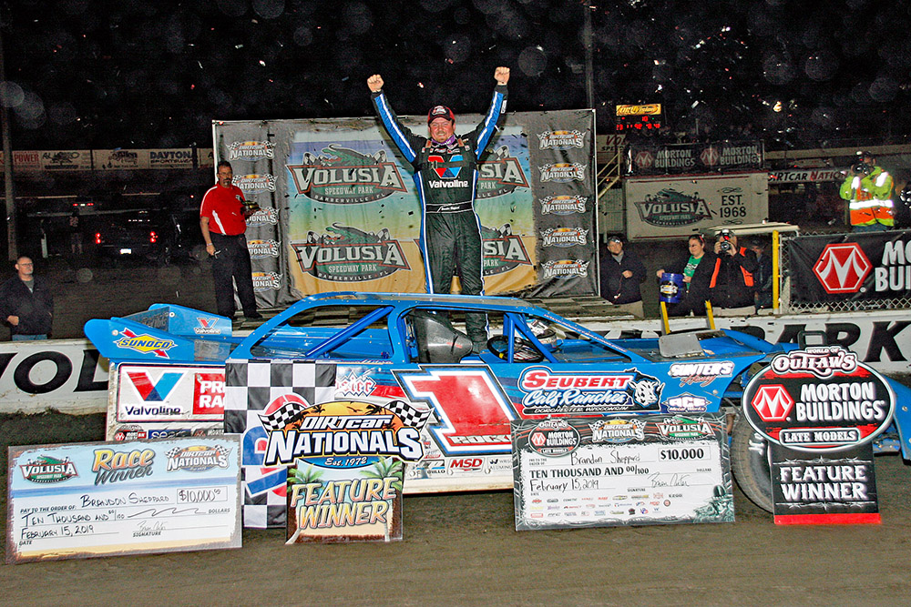 Brandon Sheppard reels off third straight Volusia Speedway Park win!