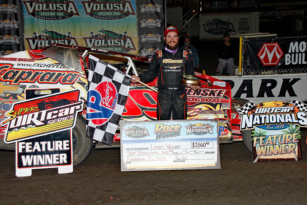 Wight Thrills Volusia Fans By Blasting Cushion to DIRTcar Nationals Victory