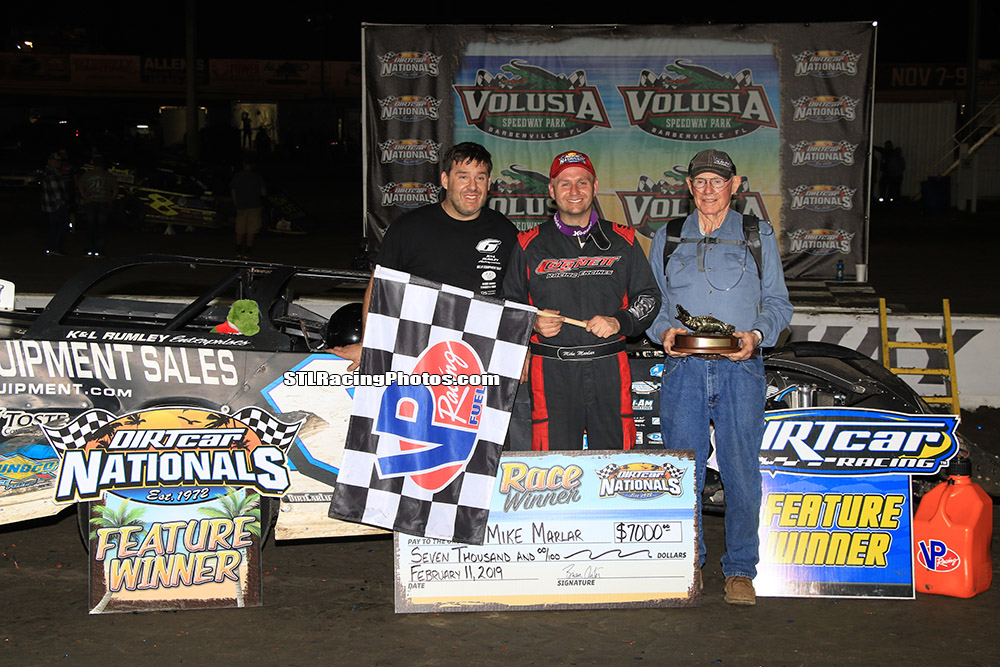 Mike Marlar powers to DIRTcar Nationals win at Volusia Speedway Park!