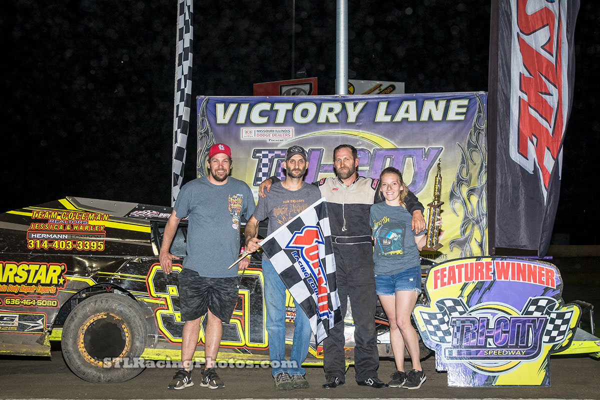 Chuck Goodman takes Tri-City Speedway B-Mod win!