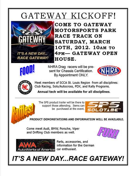 Gateway Motorsports Park Kickoff Flier
