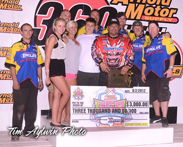 Danny Lasoski took the victory on night one of the 22nd Arnold Motor Supply 360 Knoxville Nationals. Photo Credit: Tim Aylwin