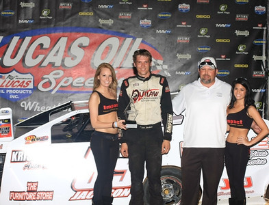 Kris Jackson in Victory Lane