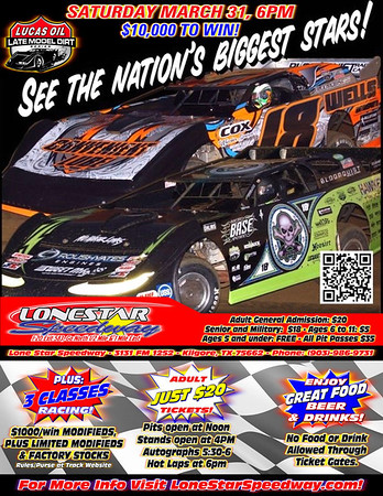 Lucas Oil Late Model Series at Lone Star Motor Speedway Flyer