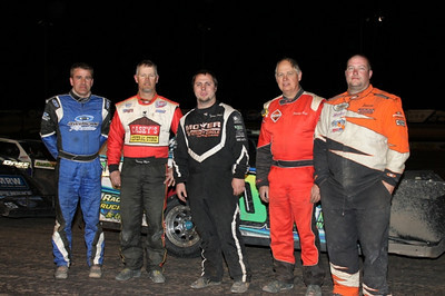 Tommy Weder (center) and the other top 5 finishers from Saturday's Winter Meltdown