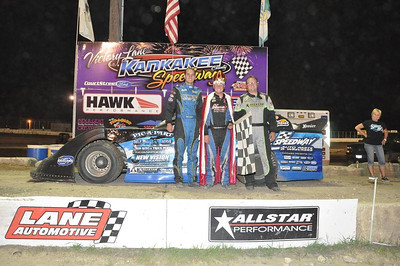 Mike Spatola (center) wins Sunoco ALMS feature event. Ryan Unzicker (left) was 2nd and Jason Feger (right) was 3rd!