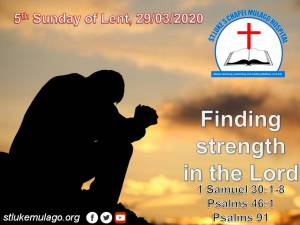 Read more about the article Finding strength in the Lord – 1 Samuel 30:1-8