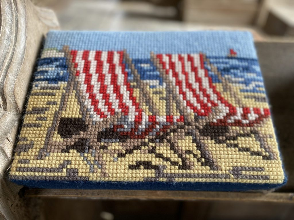 Donated by Ursula Pickering, Sewn by Ann Scott