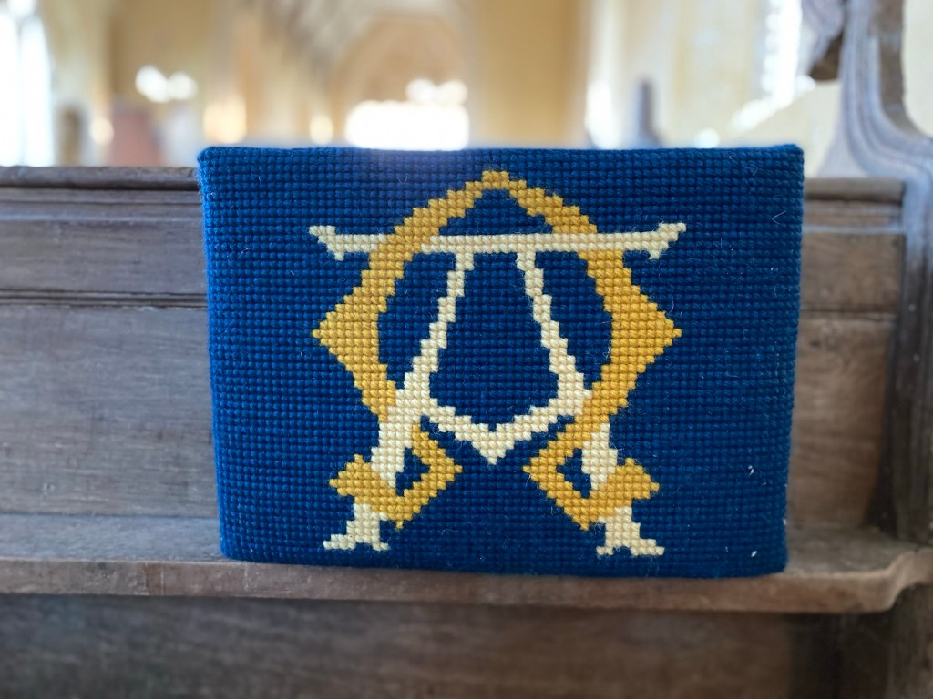 Alpha & Omega Donated & sewn by Mary Pearson in memory of Joan White