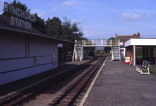 A view of the present station buildings.