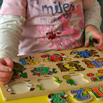 Number puzzle at St Mary's childcare centre.