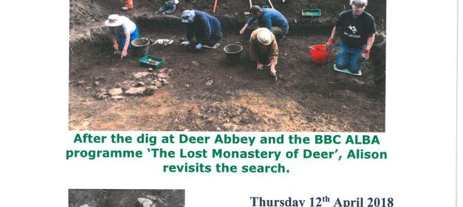 'The Lost Monastery of Deer'—12 April 2018,  Old Aberdeen, AB24 3EE