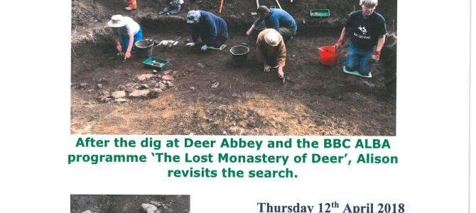 'The Lost Monastery of Deer'—12 April 2018,  Old Aberdeen, AB24 3EE