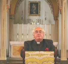 The Rev'd Norman Walker at St Mary's, Kenton
