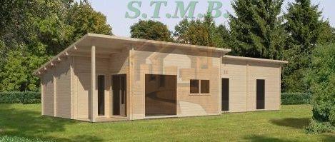 plan chalet en bois habitable 20m2