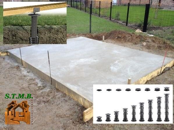 fondations d un abri ou chalet en bois