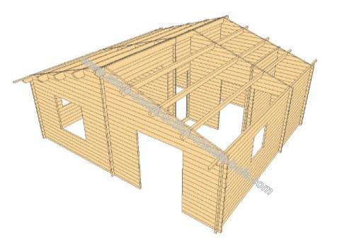 chalet en bois niort 43 sur mesure stmb construction