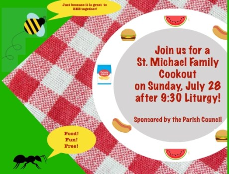 St. Michael Family Cookout, July 28, 2019