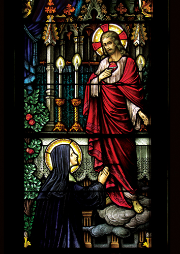 The Sacred Heart of Jesus and St. Margaret Mary