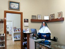 Sister is ready to welcome you to St. Michael's Gift Shop