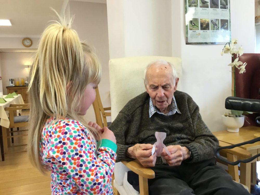 Image result for children visiting nursing home