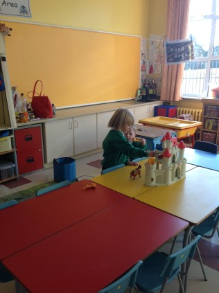 P.1's first day at school.