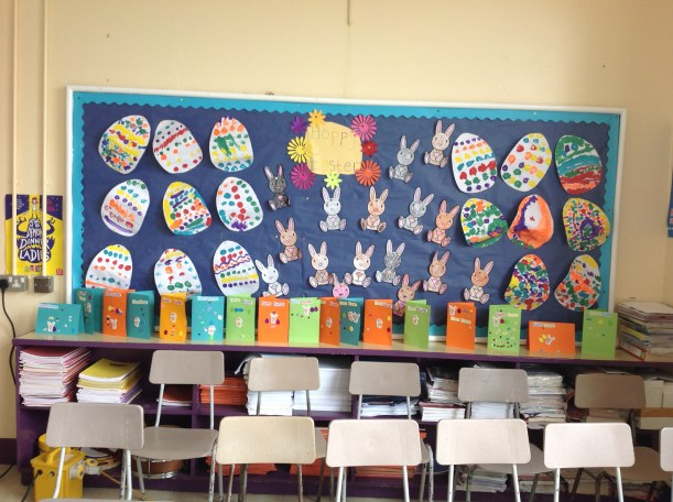 Easter Artwork by P1 & P2 pupils