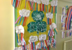 St Patrick's Day Artwork by P1 & P2 pupils