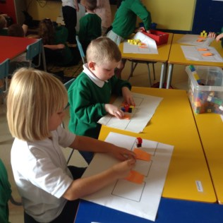 Primary 1 are practicing accurately counting up to 10. They have also been sorting objects and deciding which things should go together. In Primary 2 we have been exploring practical addition using the + and = symbols.