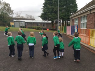 NSPCC Fundraiser All children took part in the sponsored relay run which took place in the school playground. Well done boys and girls!! Thank you for your support.