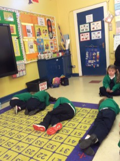 After hearing the story of 'One Snowy Night' we acted out some of the scenes. We had lots of fun becoming a different character and performing some of the scenes from the story.