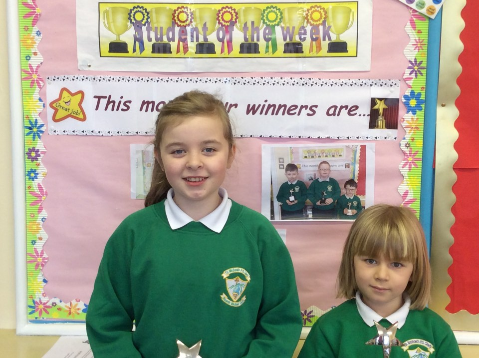 Congratulations to Orlaith and Sebastian who are the award winners for this week!