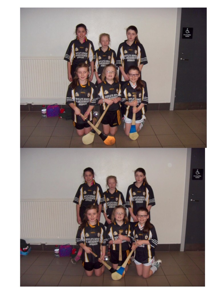 On Wed 8th Feb St Michael's and St James' entered a camogie team in an indoor blitz organised by Cumann Na MBunscol. The girls competed against larger schools and did very well with a win, a draw and one defeat.