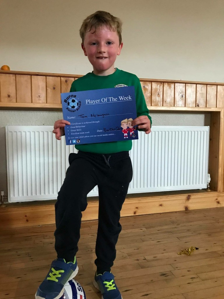 Burns Soccer School - Player of the Week 3rd Oct 2017