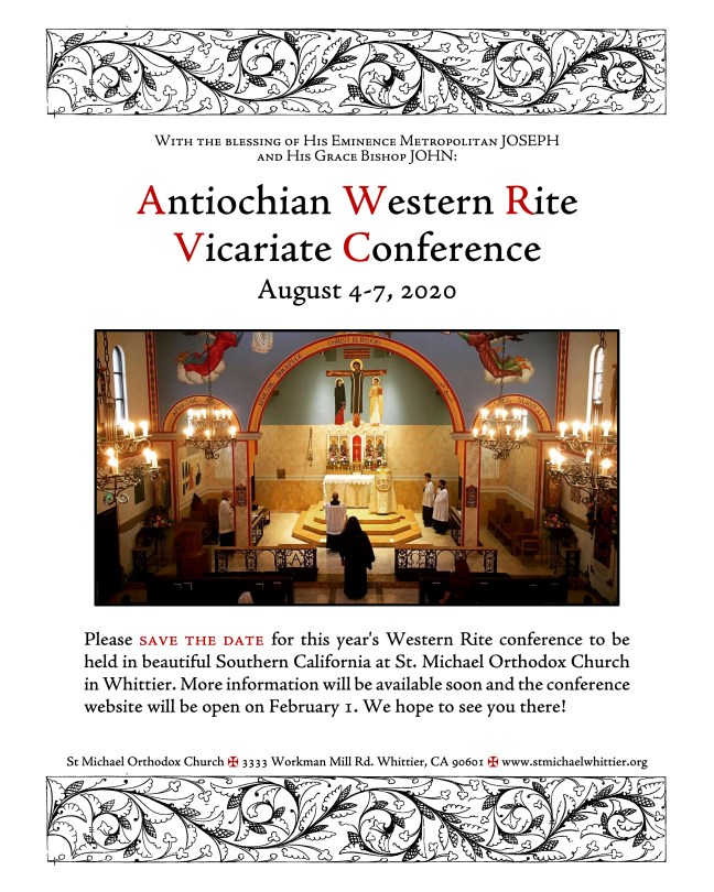 2020 Vicariate Conference Save the Date