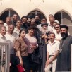 In front of the the Papal Residence in St. Bishoy Monastery, Wadi El-Natrun, Egypt with our beloved father the Thrice-Blessed Pope Shenouda III - 1990. In the picture, His Grace Bishop Paula and Father Metias beside him.