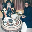 Father Metias with our beloved father the Thrice-Blessed Pope Shenouda III in the Papal Residence in Cairo, Egypt - July 20, 1996.