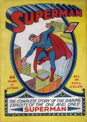 Cover of Superman Issue 1   Summer 1939   Art by Joe Shuster   Courtsey of Wikimedia Commons
