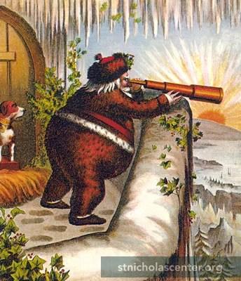 An early Nast Santa cartoon