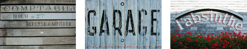 Images of texture and type from France