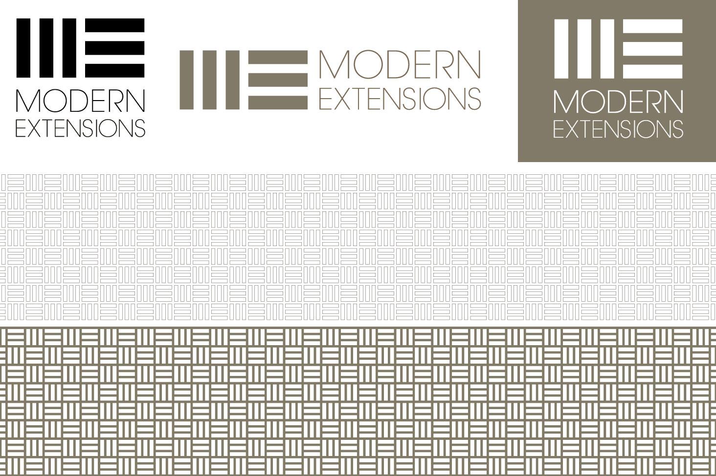 Modern Extensions logo design
