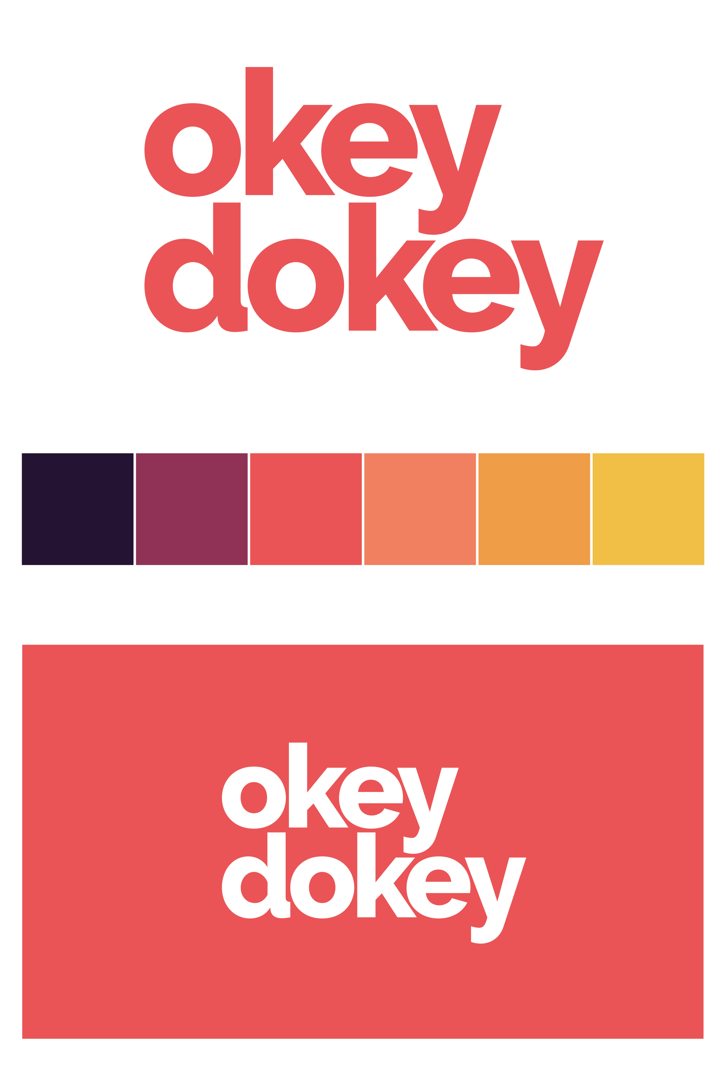Okey Dokey logo and app graphic design