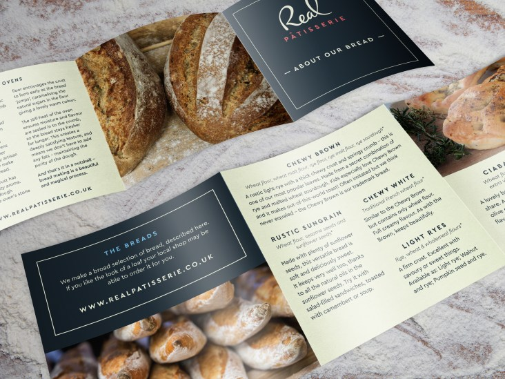 Graphic design for Real Patisserie