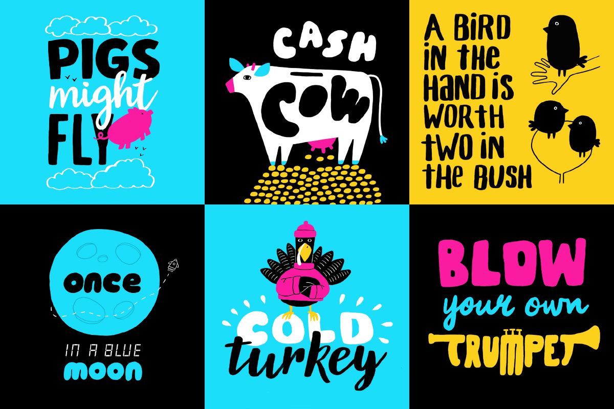Idiom design and lettering challenge