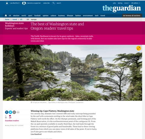 Guardian travel tip