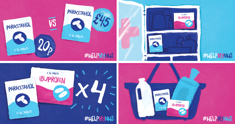 NHS graphic design work