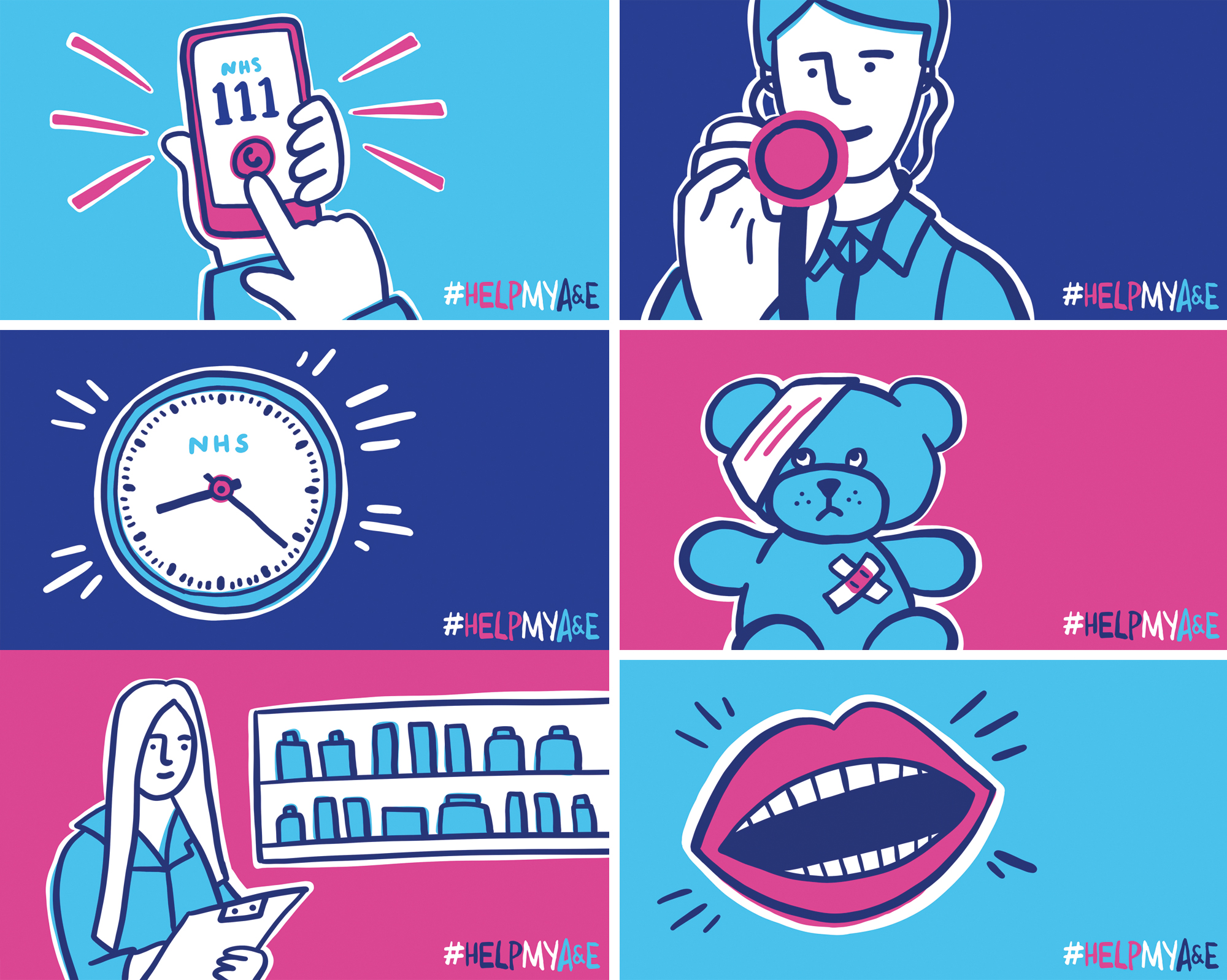 nhs campaign illustrations